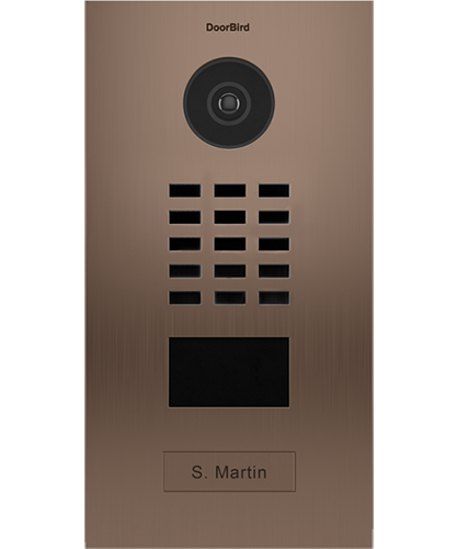 D2101BV Brushed Stainless Steel ∙ Flush-mounted ∙ Bronze Finish ∙ 1 Call button