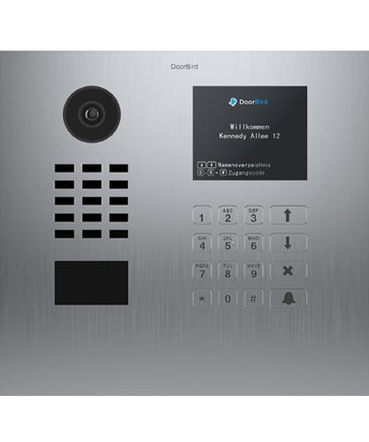 D21DKH Brushed Stainless Steel ∙ Flush-mounted (horizontal) ∙ Display Module ∙ Keypad Module
