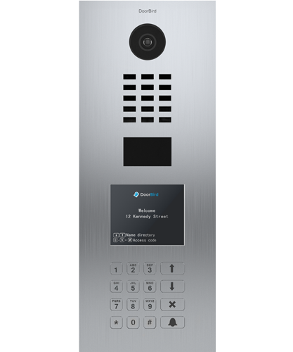 D21DKV Brushed Stainless Steel ∙ Flush-mounted (vertical) ∙ Display Module ∙ Keypad Module